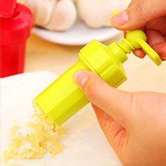 Kasstino Plastic Garlic Press Crusher Masher Home Kitchen Slicer Squeezer Cleaning Tool