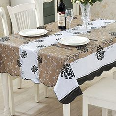 colorbird flannel backed pvc tablecloth waterproof table cover 60 x 60 inch - Kitchen Table Covers Vinyl