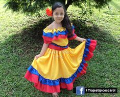 Traje tipico de colombia Traditional Mexican Dress, Traditional Dresses, Dress Up Dolls, Barbie Dress, Spanish Costume, Zumba Kids, Colombian Culture, Hispanic Heritage, Mexican Dresses