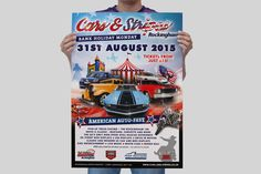 Event poster designed and printed in line with web design and leaflets.