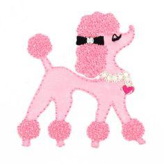 Hobbycraft Iron On Poodle Motif Pink
