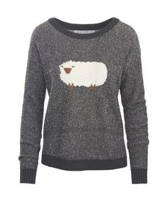Women's Wooly Sheep Motif Sweater
