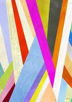 Abstract Diagonal Lines Canvas Art