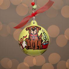GLORY HAUS Dog Christmas Ornament | underthecarolinamoon.com  #UTCM #UnderTheCarolinaMoon #Dog #DogOrnament #GH #GloryHaus #UTCM #UnderTheCarolinaMoon