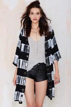 Line & Dot Shibori Jacket