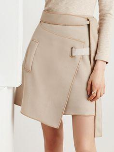 Shop Midi Skirts - Apricot Basic A-line Midi Skirt online. Discover unique designers fashion at StyleWe.com.