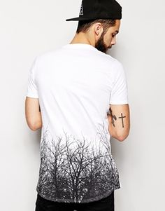 Friend+Or+Faux+T-Shirt+With+Branches+Back+Print