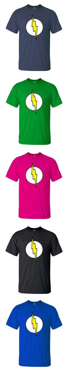The Big Bang Theory Sheldon Cooper Lightning T-shirts Men Short Sleeve Streetwear Tees 2016 Summer Hip Hop Tops Fashion brand