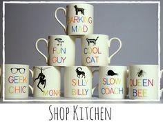 Shop Mugs • Slogan Mugs at Emiline House • www.emilinehouse.com