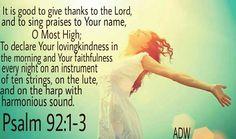 Psalm 92:1-3