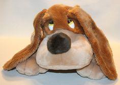 "15"" VINTAGE RUSS BERRIE CO SAMUEL PUPPY DOG BROWN TAN STUFFED ANIMAL PLUSH TOY"
