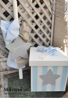 """Set βάπτισης """"Αστέρι Κύβος"""" Baptism Ideas, Candels, Baby Time, Shower Baby, Fashion Kids, Christening, Wedding Cake, Gift Wrapping, Party Ideas"""