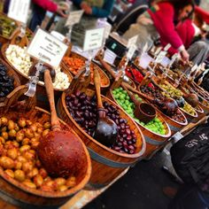 Heaps of fresh fruit and vegetables, platters of seafood, huge specialty cheese wheels, crisp organic breads and just about anything else