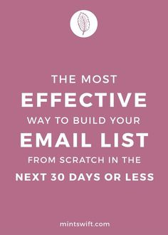The email list is essential if you're planning to sell digital or info products…