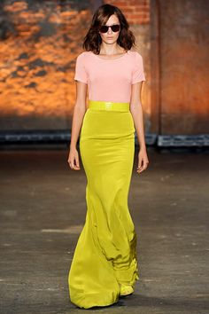 Project Runway winner Christian Siriano's Spring 2012. love the maxi skirts