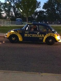 A VW Beetle AND U of M?!?!?!!?  I'm in heaven