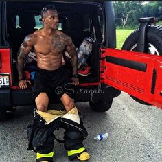 HOTT sexy FIREMAN.....you can put out my fire any day.....