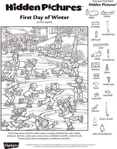Adult Hidden Predators Coloring Book Colour Predator And Crayons Kindergarten Pictures 79 Glamorous Highlights Printables Pdf Coloring Highlights Hidden Pictures Pdf Winter Activities, Christmas Activities, Classroom Activities, Activities For Kids, Ivan Cruz, Highlights Hidden Pictures, Hidden Pictures Printables, Hidden Picture Puzzles, Christmas Worksheets