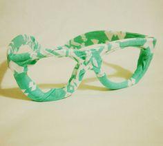 Fabric Glasses Unisex Turquoise Cotton by BundlesOfJoyDesigns