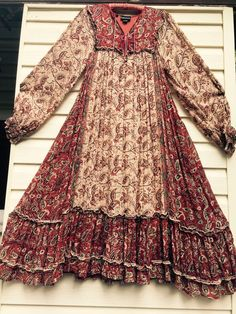 Vintage 70's gauze indian dress by JUGSnBONESvintage on Etsy