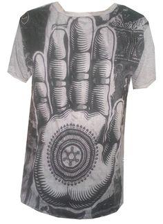 DN1 Yoga Men T Shirt Buddha Ganesha Lotus  India OM PALM Hobo Boho  M RARE Sure
