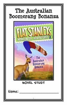 Flat Stanley Worldwide Adventures: The Australian Boomerang Bonanza Novel Study Reading Comprehension, Comprehension Strategies, Narrative Elements, Flat Stanley, Adventure Novels, Author Studies, Figurative Language, Common Core Standards, Booklet