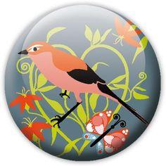 Stickers - mu - Badge Oiseau 1