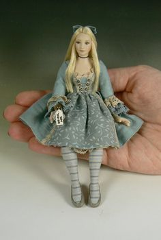 1:12 Scale Alice in Wonderland Dollhouse Doll by Debbie Dixon-Paver
