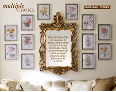 Ornate/Traditional Wall Gallery
