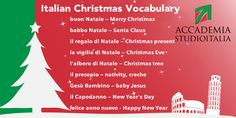 Italian Christmas Vocabulary  Buon Natale  Felice anno nuovo