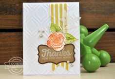 """Thanks Card by Jen Gallacher for the Scrapbook Expo blog """"The Weekly Scrapper"""""""