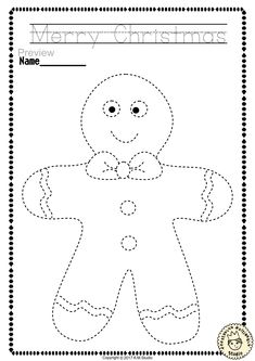 Help your child develop their pre-writing and fine motor skills with Christmas Trace and Color Pages This .pdf file includes 14 Christmas themed Tracing and Coloring Worksheets. This is a perfect activity for your young artists. Christmas Worksheets Kindergarten, Preschool Christmas Activities, Christmas Crafts For Kids, Christmas Themes, Toddler Activities, Preschool Activities, Christmas Fun, Holiday Crafts, Rudolph Christmas
