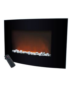 Loving This Warm House Black Arched Glass Electric Fireplace On Zulily Zulilyfinds