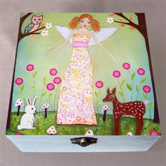 Jewelry Box Forest Fairy Jewelry Box Wooden Box Wooden by Sascalia