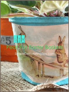 Hi! Liz here, from the DIY and decorating blog SimpleDecoratingTips.com.This fun craft using peat pots makes Easter basket reminiscent of vintage ones...This DI…