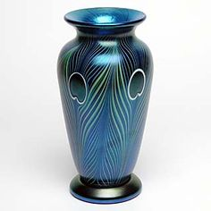 Blue Peacock Vase by Orient and Flume | Light Opera - Orient and Flume - art glass, paperweights, vases ...