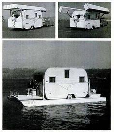 Cool Campers, Retro Campers, Vintage Campers, Vintage Airstream, Rv Campers, Kombi Motorhome, Camper Trailers, Campervan, Camping Glamping