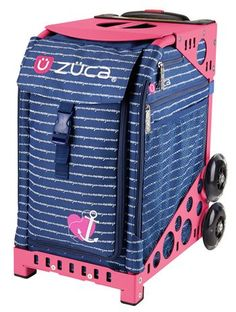 Zuca Sport Bag - ANCHOR MY HEART with Pink Frame | A true all-around athlete, the patented design of the ZÜCA Sport demands attention. Agile. Grace...