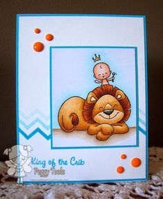 YNS Challenge card by Peggy using YNS Gumdrops, King of the Crib & Stripes and Stitching