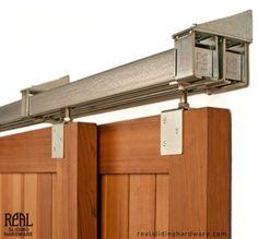 WE ONLY NEED SINGLES - DOORS TO MEET NOT BYPASS Heavy Duty Industrial Bypass Box Rail Barn Door Hardware (500lb+)