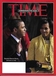 Barack Obama inauguration, Barack and Michelle Obama, TIME magazine