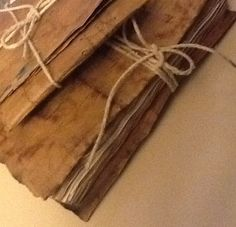 how to make your own journal, brown paper bags and coffee stained paper