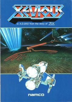 """Namco """"Xevious"""" Note Book #arcade #retrogames"""