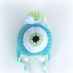 MOMMYS LITTLE MONSTER Crochet Monster Hat by cherlynnephotography, $18.00