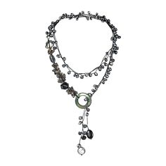 Pretty Cultured Freshwater Black Pearls, Reconstructed Onyx, Mother of Pearl Long Wrap Around Necklace -- Get some valentines gift ideas at the image link.