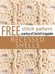Recessed Shells Stitch Patterns