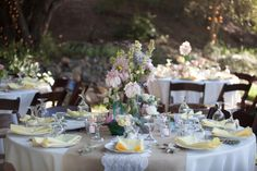 Vintage Wedding Table at Willow Creek Ranch in San Diego County willowcreekevents.com