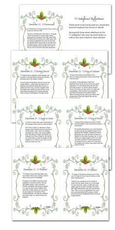 """Praying the """"O Antiphons"""" During the Octave of Advent Catholic Advent Christmas Prayers"""