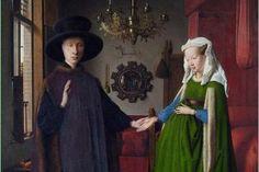 Jan van Eyck, Die Arnolfini-Hochzeit (The Arnolfini Portrait) The Arnolfini Portrait, L'art Du Portrait, Portraits, Pencil Portrait, Renaissance Kunst, Renaissance Paintings, Italian Renaissance, Famous Art Paintings, Classic Paintings