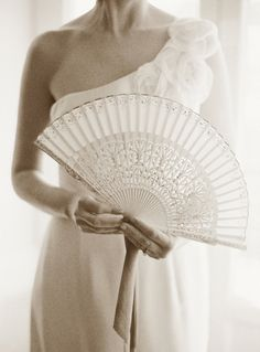 fans for bride & bridesmaids